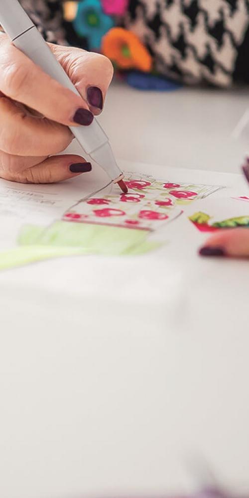 Atelier Helga Maria Schatzlmayr - Anfertigung von Modezeichnungen